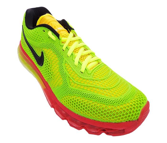 f0fc3e7914 Tênis Nike Air Max 2014 Verde Limão (R)